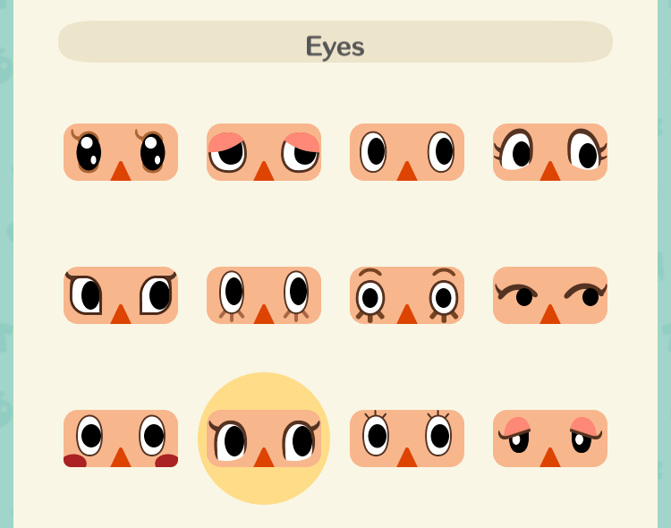 女性の顔の種類