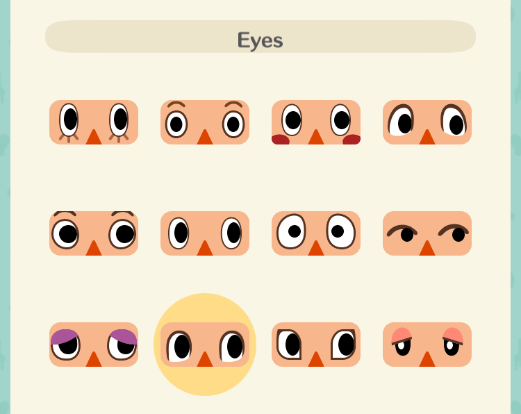 男性の顔の種類